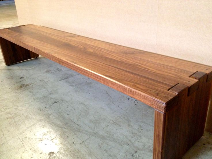 Walnut Bench. Visit us at http://AcaciaCreek.etsy.com