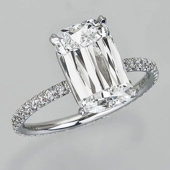 Brides: Celebrity Engagement Rings and Wedding Bands | Wedding Jewelry | Engagement Rings | Brides.com  --- Reese Witherspoon's Engagement Ring  The petite actress wears this Ashoka diamond (marked by its rectangular shape with rounded edges and 62 facet display) ring by William Goldberg.