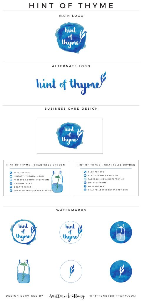 Logo + Brand Design Reveal – Hint of Thyme