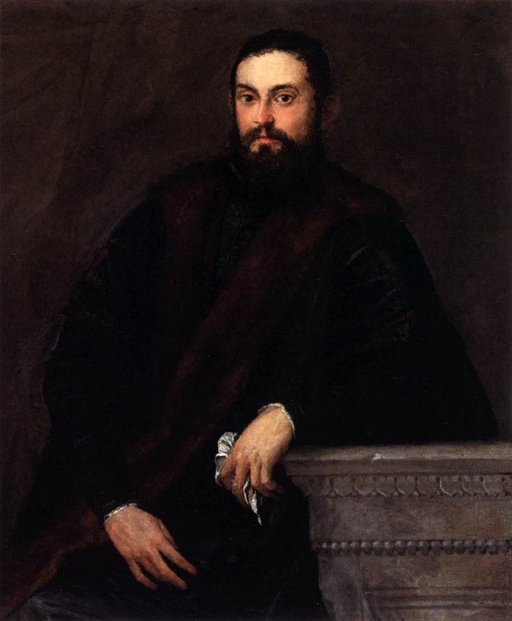 Gentleman in Black - Paolo Veronese: Black 1560S, Oil On Canvas, Paolo Veronese, Private Collection, 1560S Oil, Art, Gentleman