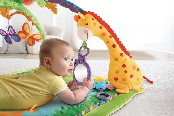 Gym Deluxe Lights Fisher Price Rainforest Melodies Baby Music Activity Play Mat  #FisherPrice #gymmat #kids #mat #shopforkids #baby #toddler #floormat