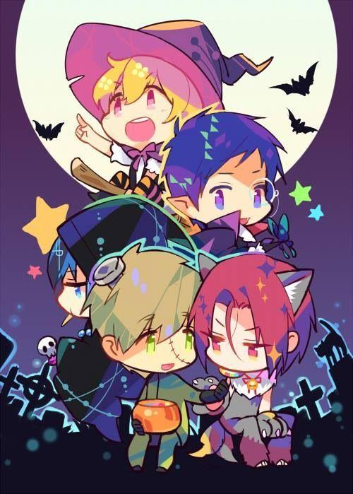 Happy Halloween! Nagisa, Rei, Haru, Makoto, and Rin ~Free! Iwatobi Swim Club