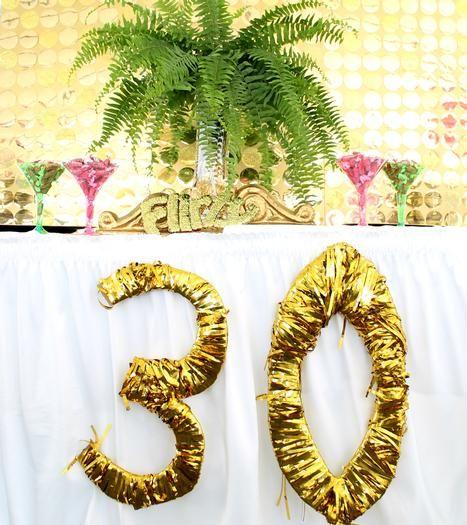 Una Fiesta Tropical Con Toques De Glamour Para Un 30 Cumpleanos A Party With 30th Birthday Parties30