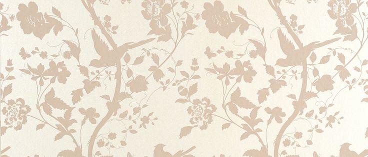 Oriental Garden Chalk Pink Floral Wallpaper at Laura Ashley