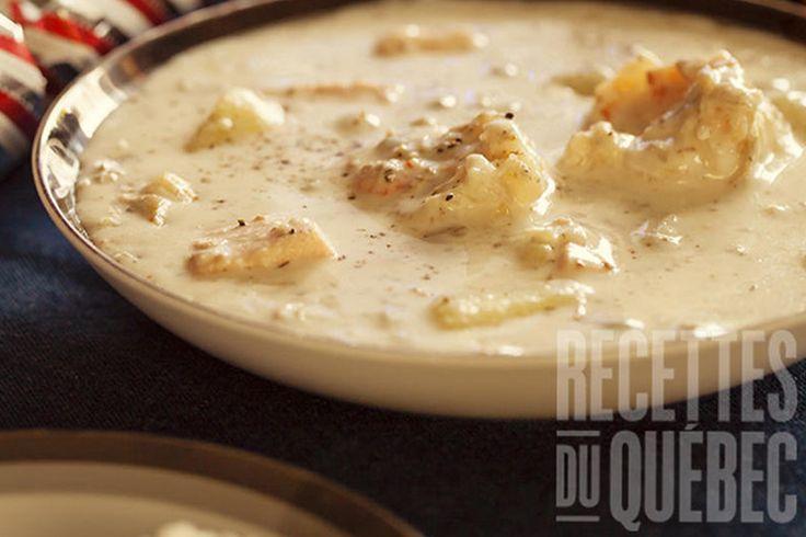 Chaudrée de poisson minute #recettesduqc #soupe #poisson #rapide