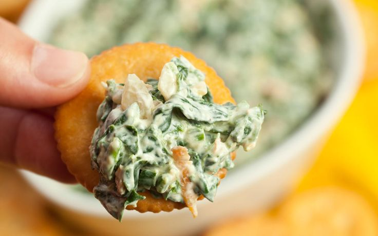 A simple spinach dip recipe that tastes just like the version made with boxed vegetable soup mix, but made with fresh spinach and no soup mix