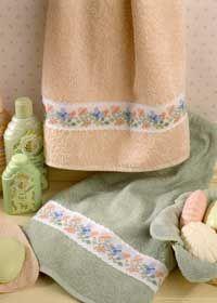 butterfly towel border