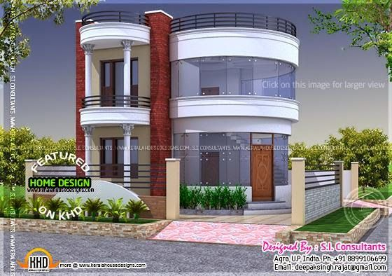 Front Round Elevation : Kerala home design and floor plans round house