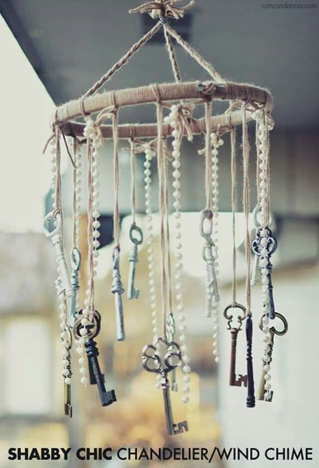 Shabby Chick Chandelier/Wind Chime