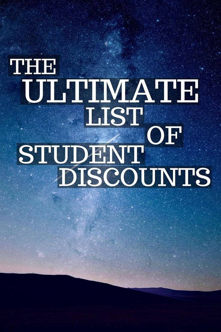A lot of college students miss out on saving serious cash by neglecting student discounts! Most stores don't advertise their discounts, so I've got you covered with this ultimate list of student discounts!
