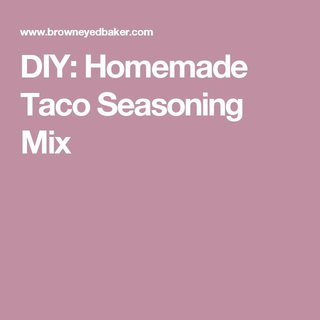 DIY: Homemade Taco Seasoning Mix