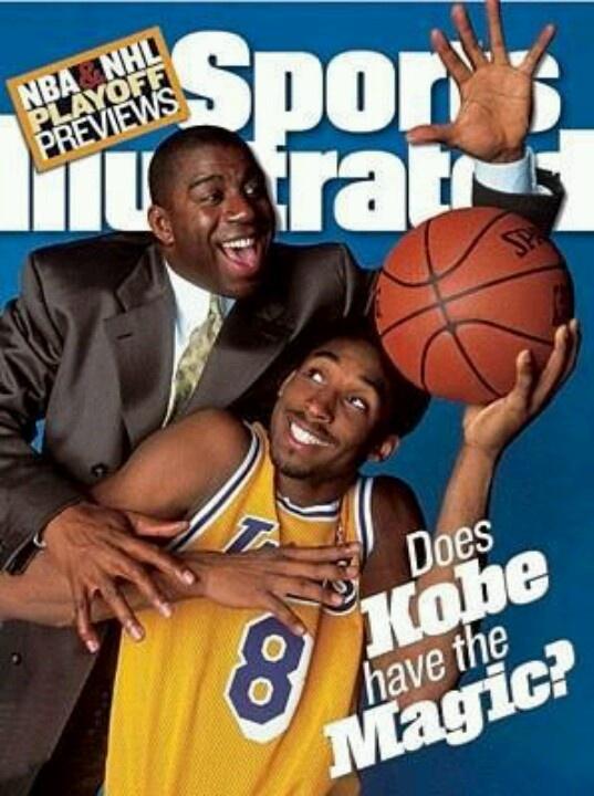Magic Johnson, Kobe Bryant, Lakers.
