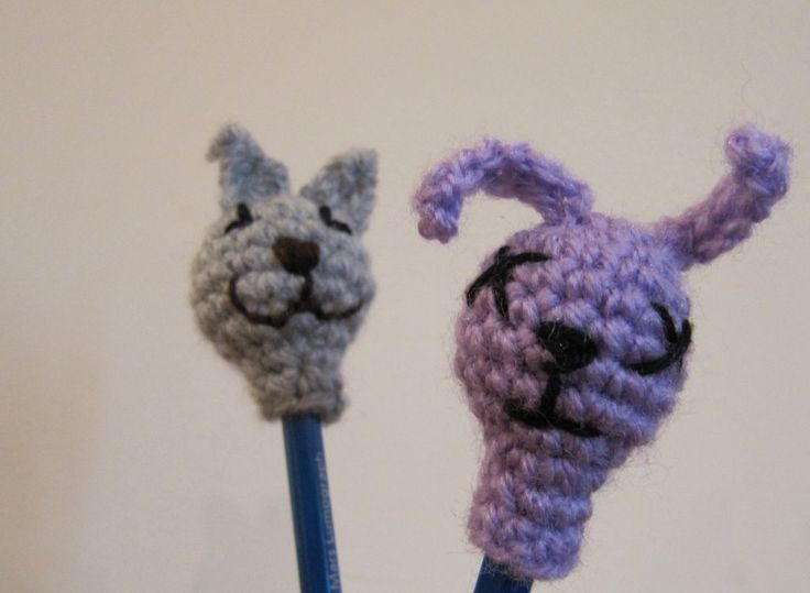 Amigurumi Bunny Pencil Holder : Best crochet pencil toppers images on pinterest