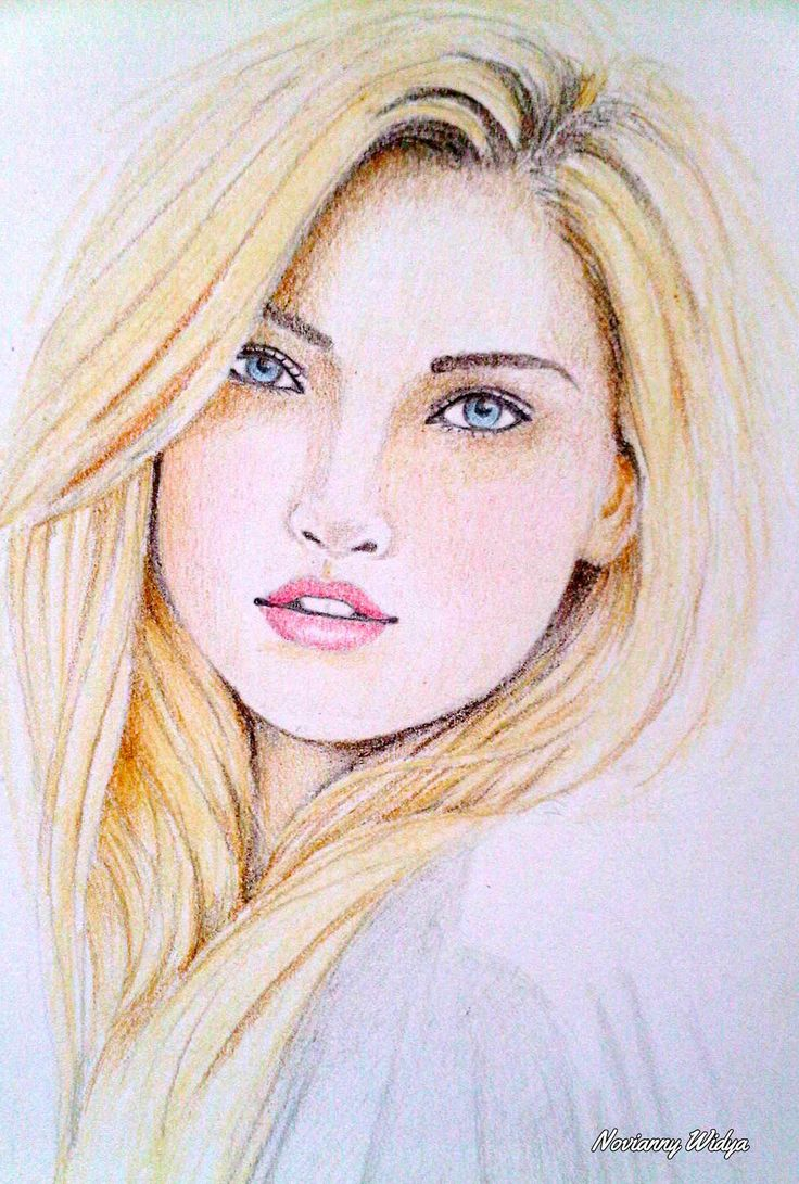 Pin by marion 39 s retreat on drawing girls pinterest for Easy colour sketch pen drawings