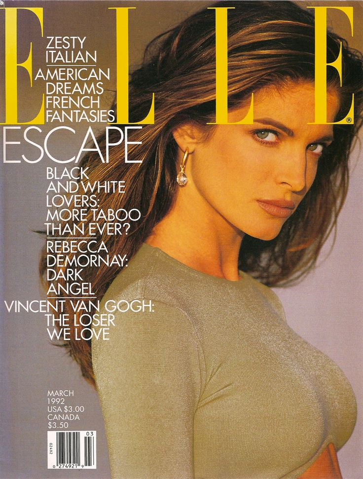 ELLE US, 1992. Model: Stephanie Seymour.