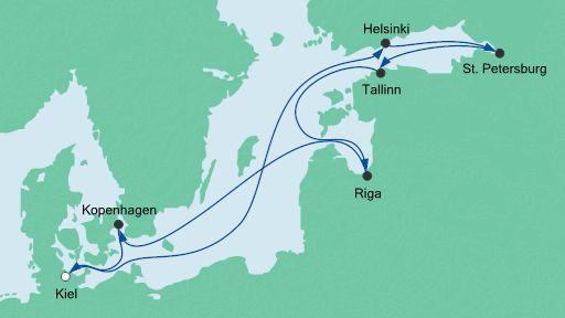 Route: Schätze der Ostsee 1 mit AIDAcara