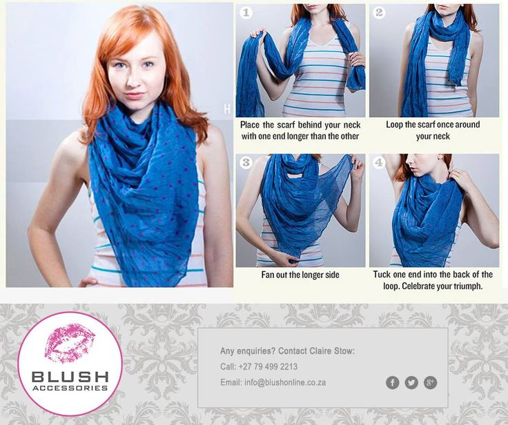 How to tie a long scarf - try these easy steps. Remember to pop into your nearest Blush store for our fabulous scarves instore! #blush #scarftip #scarves
