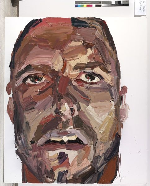 Ben Quilty  Self portrait after Madrid, 2007  oil and oil bar on linen  214 x 183 cm
