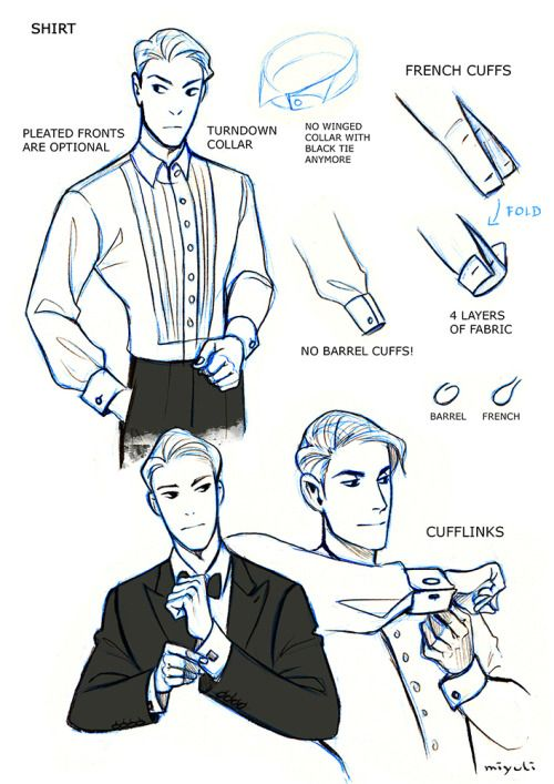 miyuli:  I've been studying the classic black tie dress code (mainly from here) so I thought I could share my notes. Maybe they can be helpful to someone else, too. If I made any mistakes or things are really confusing please tell me.I also have some notes on white tie which I could share as well…