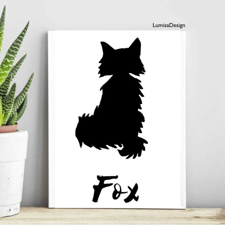 Fox monochrome print, nursery poster. Nursery animal set  For more beautiful posters cards and totes, visit LumisaDesign