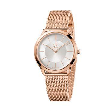 K3M22626 Γυναικείο quartz ελβετικό ρολόι CALVIN KLEIN Minimal με ασημί καντράν και ροζ επίχρυσο ατσάλινο μπρασελέ | Ρολόγια CK ΤΣΑΛΔΑΡΗΣ στο Χαλάνδρι #Calvin #Klein #minimal #ροζ #μπρασελε #ρολοι