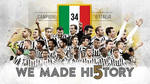 Il Napoli perde a Roma nel posticipoe consegna il titolo di Campione d'Italia alla Juventus che festeggia il suo quinto scudetto consecutivo.