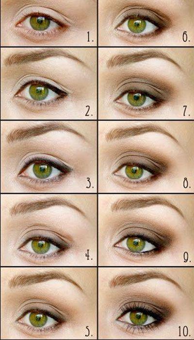 Гармоничный макияж глаз для рыжих