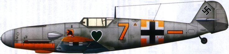 Bf 109G-2/R6 из состава 6-й эскадрильи 1-й группы 54-й истребительной эскадры Люфтваффе