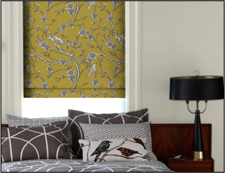 Modern Window Treatments, Blinds and Shades | DwellStudio;  I would love to have custom shades like this.