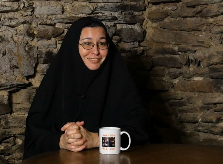 "Sr. Dr. Vassa Larin, a nun of the Russian Orthodox Church Abroad and liturgiologist of the University of Vienna in Austria. ""Coffee with Sister Vassa"" is a brief, 10-minute weekly program on Youtube, hosted by Sr. Dr. Vassa Larin. The program offers an engaging reflection on the Orthodox Church calendar of the current week, including the lives of the saints, scriptural passages, the Orthodox liturgical tradition, and a light dose of humor."