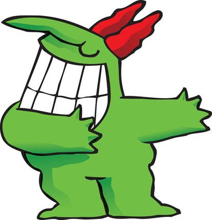 "The Just For Laughs mascot, ""Victor"". Designed by Vittorio Fiorucci. #JustForLaughs #Montreal"