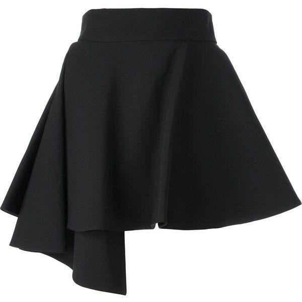 Fausto Puglisi short asymmetric skirt (€730) ❤ liked on Polyvore featuring skirts, mini skirts, bottoms, saias, faldas, black, black a line mini skirt, short skirts, black a line skirt and high waisted skirts