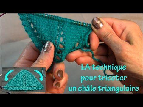 Châle triangulaire : la technique à la française - YouTube