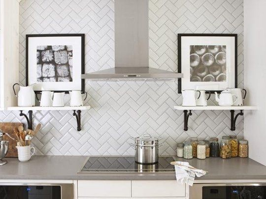 Shake it Up: 7 Creative New Ways to Lay Subway Tile | love love love the herringbone idea!