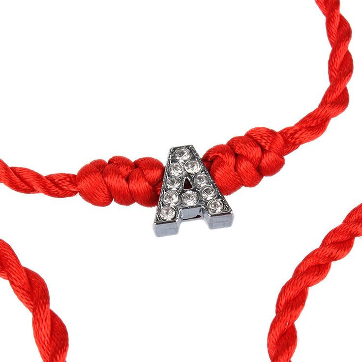 New Women Bracelet Crystal Letters Charms with Red Rope Lucky Bracelets for Women Cord String Line Handmade Jewelry For Couple