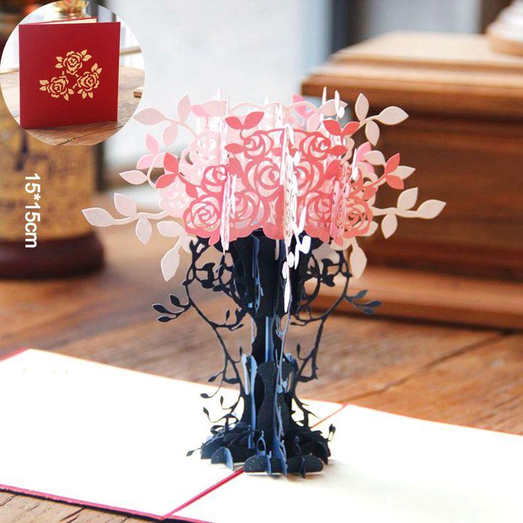 Купить товарСпасибо Карты Открытки с Конвертами 3D pop up Бумаги лазерная Резка поздравительная открытка На День Рождения День Святого Валентина подарок для любителя горшок в категории Поздравительные открыткина AliExpress. категория:3D Pop Up Картыцвет:розовый/Желтыйвес:36 гконверты:датехника:лазерная Резкауплотнения:нетРазмер карты: 15*15 с