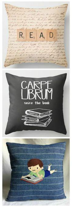 bookish pillows