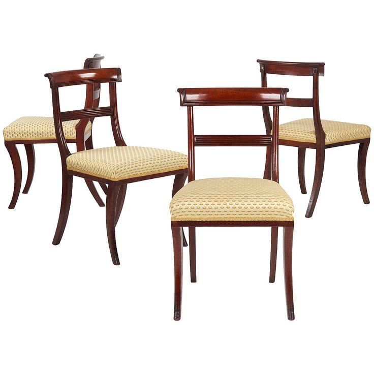 19th Century Set of Four English Regency Antique Dining Chairs, circa  1810-20 - Best 25+ Antique Dining Chairs Ideas On Pinterest Antique Dining