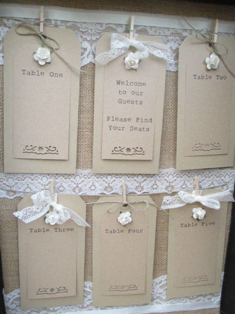 Suitcase Seating Plan Vintage Wedding Table