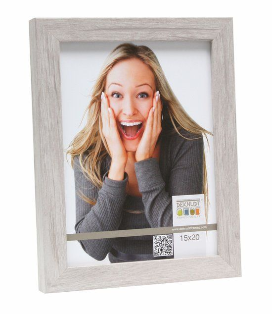 Deknudt Frames Blokprofiel in lichte houtkleur fotomaat 50x50 cm