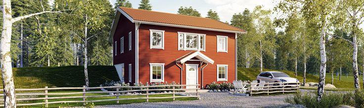 Tidlös 08: Klassiskt sluttningshus med kvadratisk form.