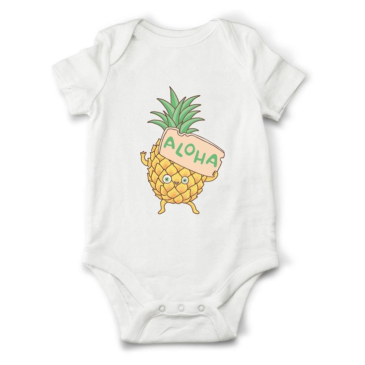 Best 25 pineapple onesie ideas on pinterest baby girl outfits aloha onesie aloha shirt hawaii baby clothes funny baby onesie or shirt negle Gallery
