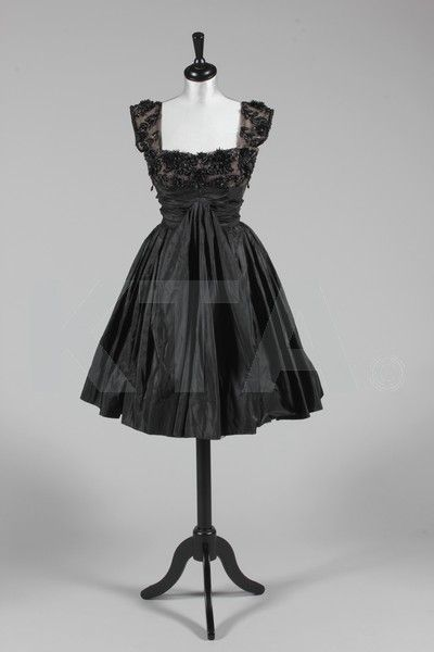 Evening dress by Rahvis, mid-1950's UK