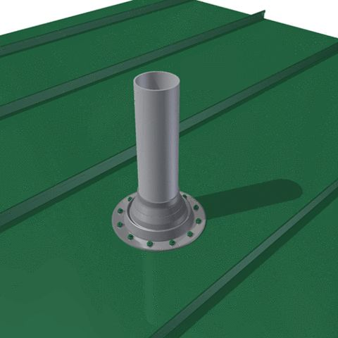 A Tutorial on how to install a roof vent pipe flashing boot on a metal roof, complete with step-by-step pictures.