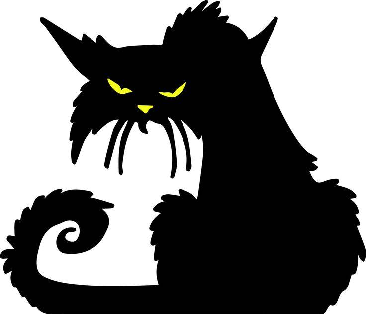 Vintage Halloween 10 SVGs black cat, pumpkins, witch