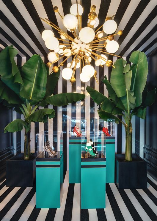 The smashing interior of Aquazzura's store in Florence. More on the blog.