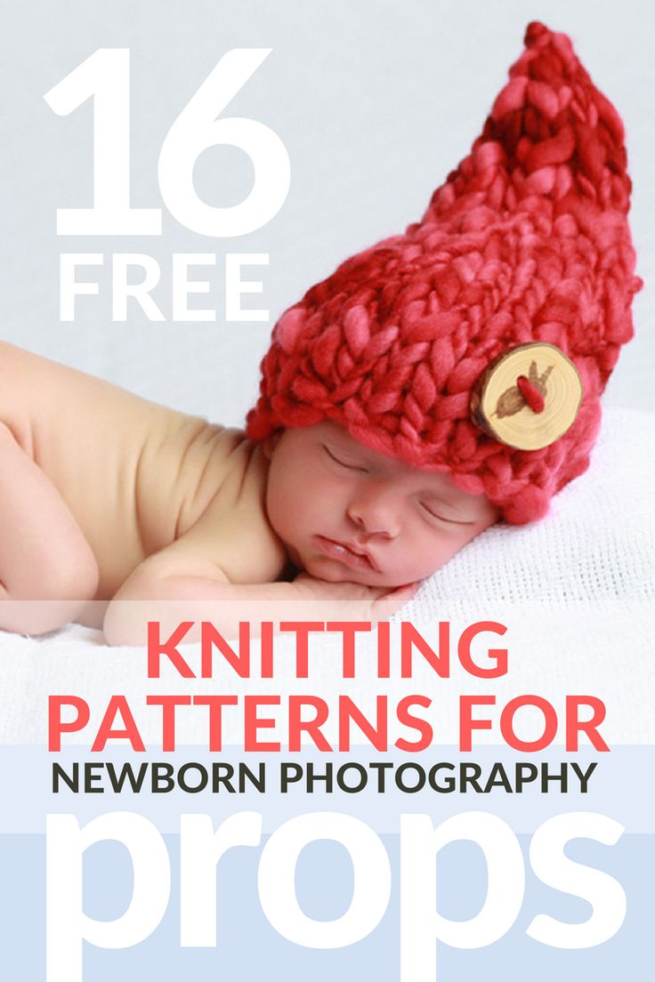16 Free Knitting Patterns for Newborn Photography Props   windingtheskein.com #newborn #hat #knitting