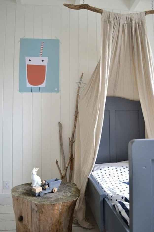 Use a sturdy branch to create your own shabby chic canopy. *Drift Wood Canopy*