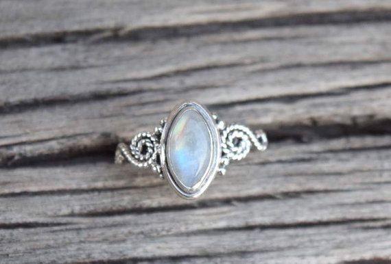 Mondstein Ring, Steinring, Silberring, Rainbow Ring, 925 Sterling silber Ring, Mondstein, Silber Mondstein Ring, Steinring, RNSLMN4