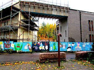 #streetart StreetArtsz: Katutaidetta Itäkeskuksessa, Stoan liepeillä, väliaikaista kaikki on vaan...